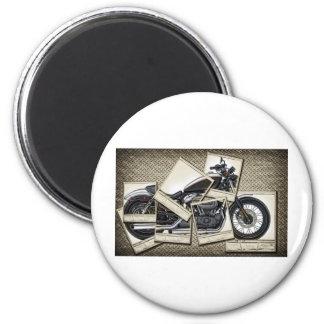 Motorbike 6 Cm Round Magnet