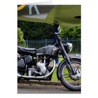 Motorbike And Spitfire Greeting Card