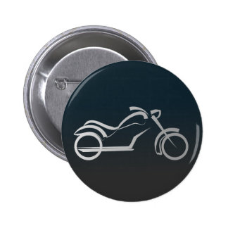 Motorbike artistic silhouette illustration pin