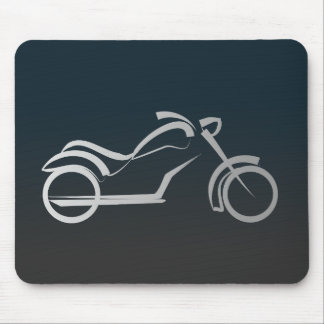 Motorbike artistic silhouette illustration mouse pad