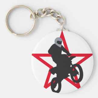 motorbike basic round button key ring