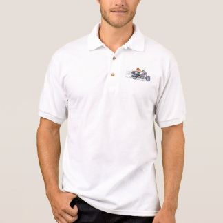 Motorbike Cartoon Polo Shirt