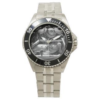 Motorbike Engine Classic Stainless Steel Watch
