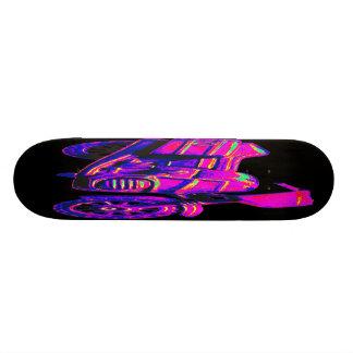 Motorbike, Pink on Black Back Skateboard Decks