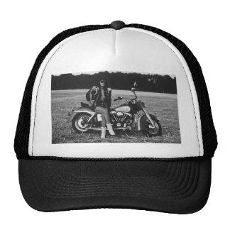Motorbike Pinup Girl Trucker Hat
