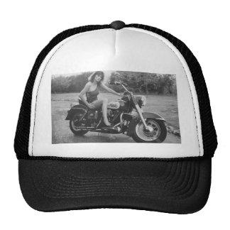 Motorbike Pinup Girl Mesh Hats