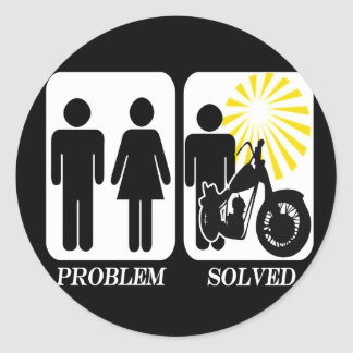 Motorbike Problem Solved Stickers