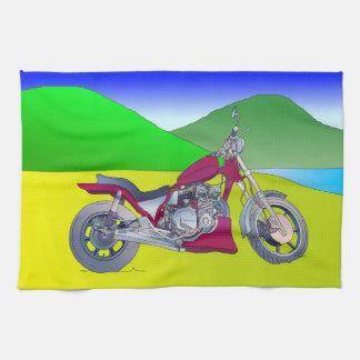 Motorbike Tea Towel