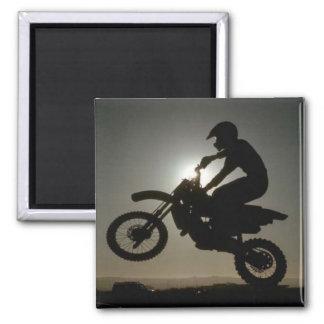 Motorbike tricks square magnet