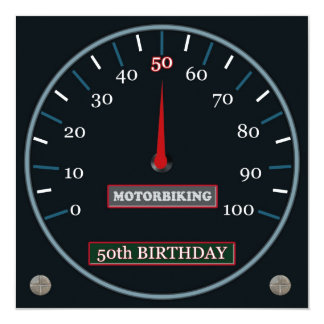 Motorbiking 50th Birthday Invitation