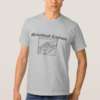 motorboat, Motorboat Captain Tee Shirts