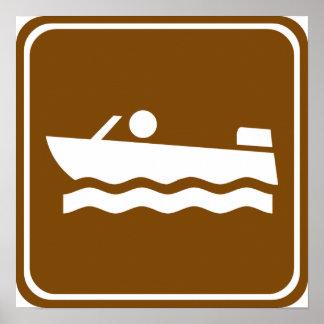 Motorboating Highway Sign