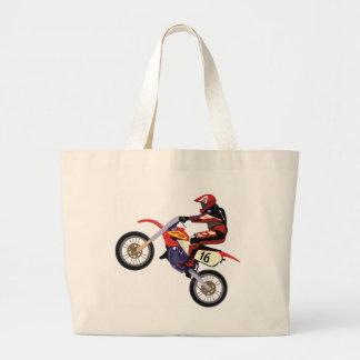Motorcross Large Tote Bag