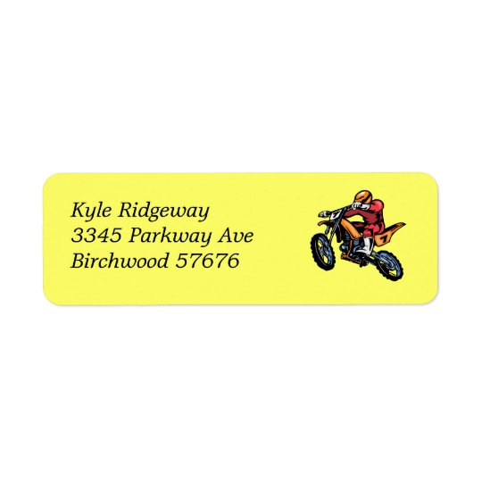 Motorcross  Return Address Label ll
