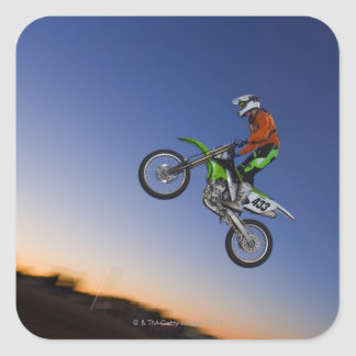 Motorcross Rider Square Sticker