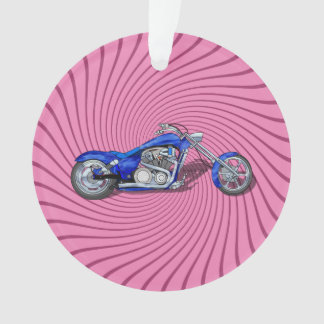 Motorcycle 1 - Blue Ornament