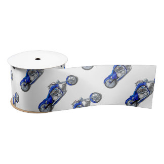 Motorcycle 1 - Blue Satin Ribbon
