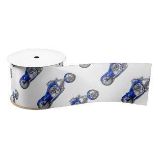 Motorcycle 1 - Blue Satin Ribbon