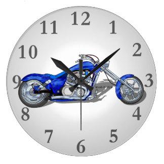 Motorcycle 1 - Blue Wallclocks