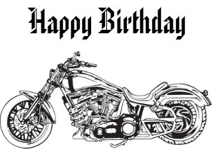 Motorcycle1 Happy Birthday Card
