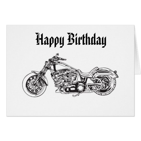 Motorcycle..1, Happy Birthday Card
