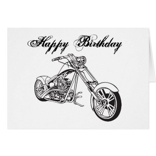 Motorcycle..2, Happy Birthday Card