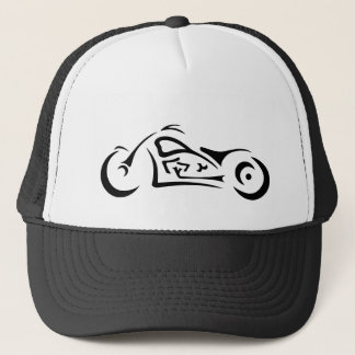 Motorcycle Abstract Tribal Trucker's Hat