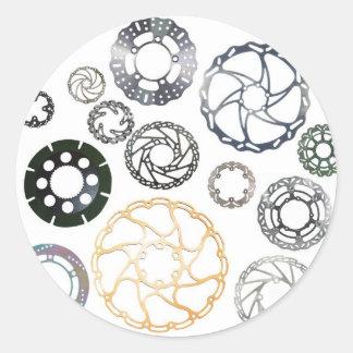 motorcycle and bike brake discs classic round sticker