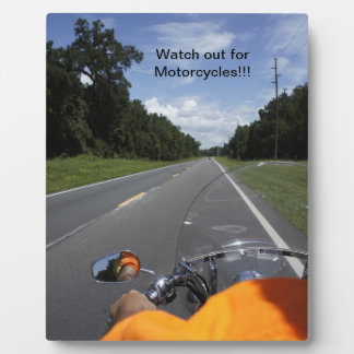 Motorcycle Awareness Photo Plaques