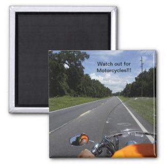 Motorcycle Awareness Square Magnet