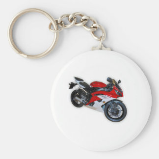 motorcycle basic round button key ring
