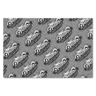 Motorcycle Biker Happy Birthday Party Decor Tissue Paper