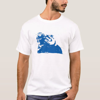 Motorcycle Blue T-Shirt