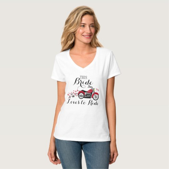 Motorcycle Bride Loves To Ride T-Shirt