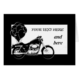 Motorcycle Card-Customisable Greeting Card
