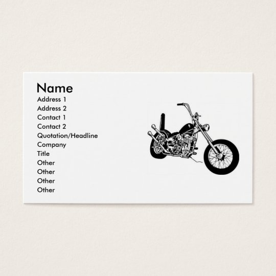 Motorcycle Chopper Business Cards