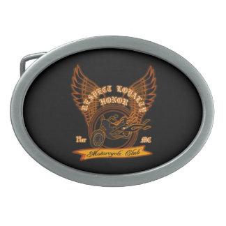 Motorcycle Club Badge Oval Belt Buckles