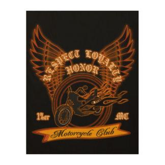 Motorcycle Club Badge Wood Prints
