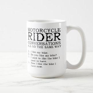 Motorcycle Conversations Funny Mug
