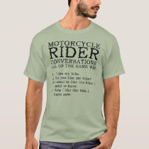 Motorcycle Conversations Funny Shirt