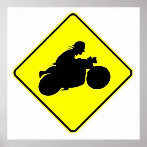 Motorcycle Crossing Print