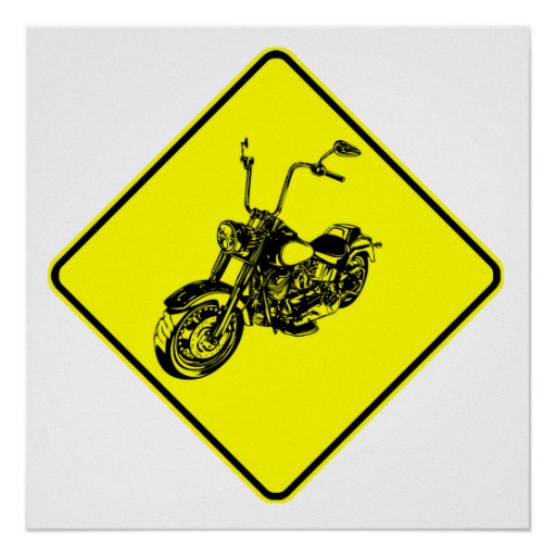 Motorcycle Crossing Poster