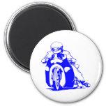 Motorcycle Drag Racing 6 Cm Round Magnet