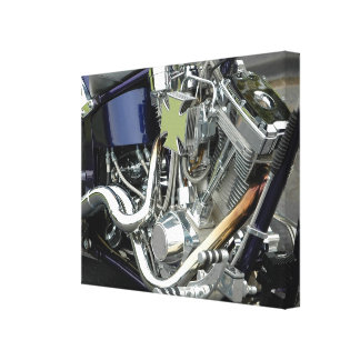 Motorcycle Engine Gallery Wrapped Canvas