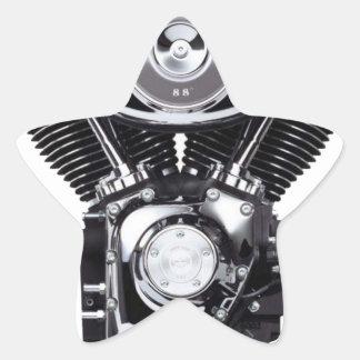 Motorcycle Engine Star Sticker