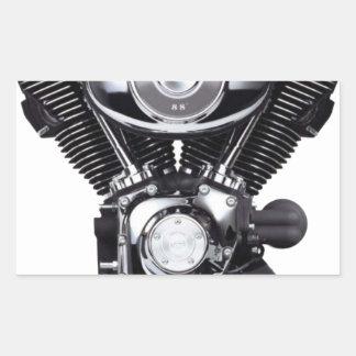 Motorcycle Engine Rectangular Sticker