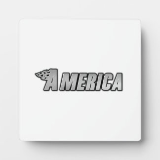 Motorcycle Flames - America Photo Plaque
