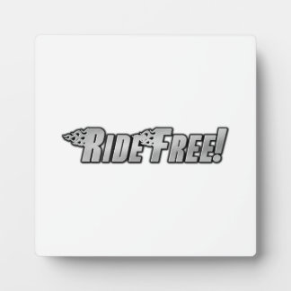 Motorcycle Flames - Ride Free Display Plaques