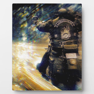 Motorcycle Flyer Photo Plaque