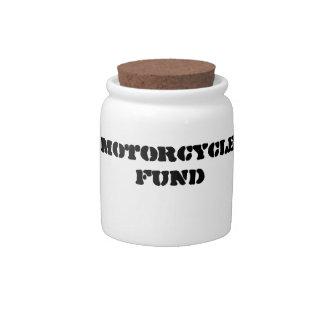 Motorcycle Fund Jar Candy Dish